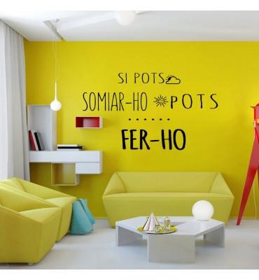 Vinilo de frases decorativas en catalán