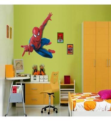 fabricado en vinilo precortado reutilizable con la temática spiderman habitación