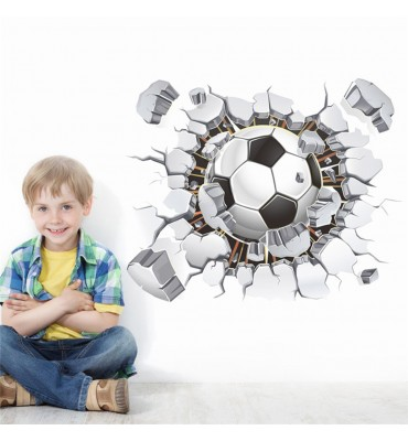 fabricado en vinilo precortado reutilizable con la temática balón pelota fútbol 3D