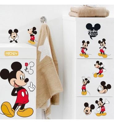 fabricado en vinilo precortado reutilizable con la temática Mikey Mouse