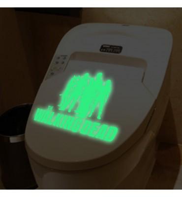 fabricado en vinilo precortado reutilizable con la temática walking dead baño fluorescente
