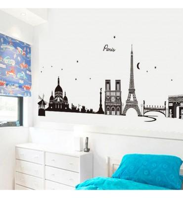 fabricado en vinilo precortado reutilizable con la temática París Eiffel y basílica
