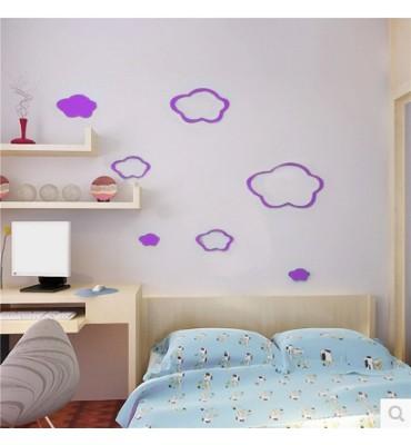 fabricado en vinilo precortado reutilizable con la temática Nubes 3D habitación