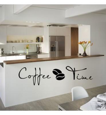 fabricado en vinilo precortado reutilizable con la temática hora del café bares o cocina