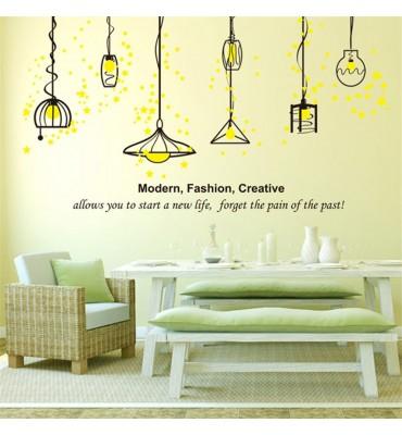 fabricado en vinilo precortado reutilizable con la temática lámparas colgantes modernas