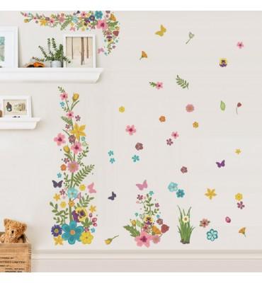 fabricado en vinilo precortado reutilizable con la temática flores primavera mod1