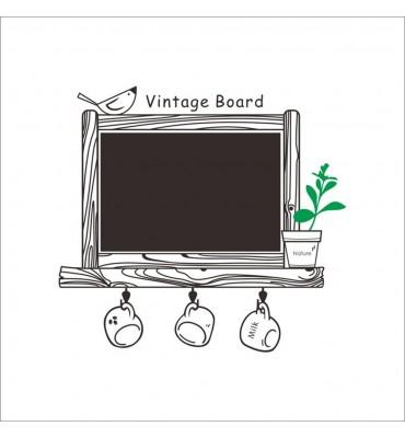 fabricado en vinilo precortado reutilizable con la temática pizarra vintage cocina