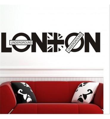 fabricado en vinilo precortado reutilizable con la temática London Underground