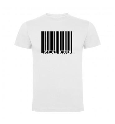 Camisetas con frases motivadoras fabricadas en 100% algodón de serie limitada con la frase Carpe Diem