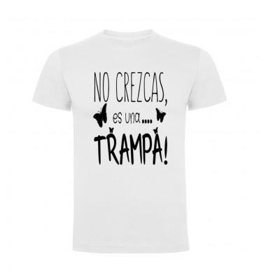 Camisetas con frases motivadoras fabricadas en 100% algodón de serie limitada con la frase No crezcas es una trampa