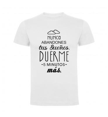 Camisetas con frases motivadoras fabricadas en 100% algodón de serie limitada con la frase Nunca abandones tus sueños