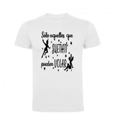 Camisetas con frases motivadoras fabricadas en 100% algodón de serie limitada con la frase Solo aquellos que sueñan pueden volar