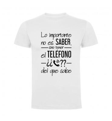 Camisetas con frases motivadoras fabricadas en 100% algodón de serie limitada con la frase Lo importante no es saber