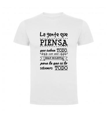 Camisetas con frases motivadoras fabricadas en 100% algodón de serie limitada con la frase La gente que piensa que saben todo