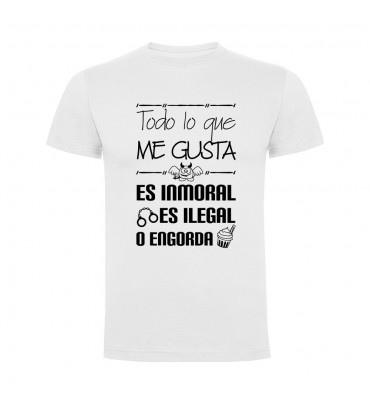 Camiseta manga corta fabricada en vinilo de corte