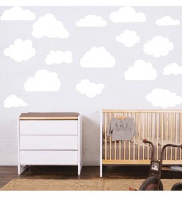 """fabricado en vinilo de corte con el texto""""Nubes decorativas distintos tamaños.."""""""