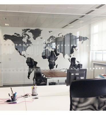 fabricado en vinilo precortado reutilizable con la temática mapa del mundo en vinilo de corte